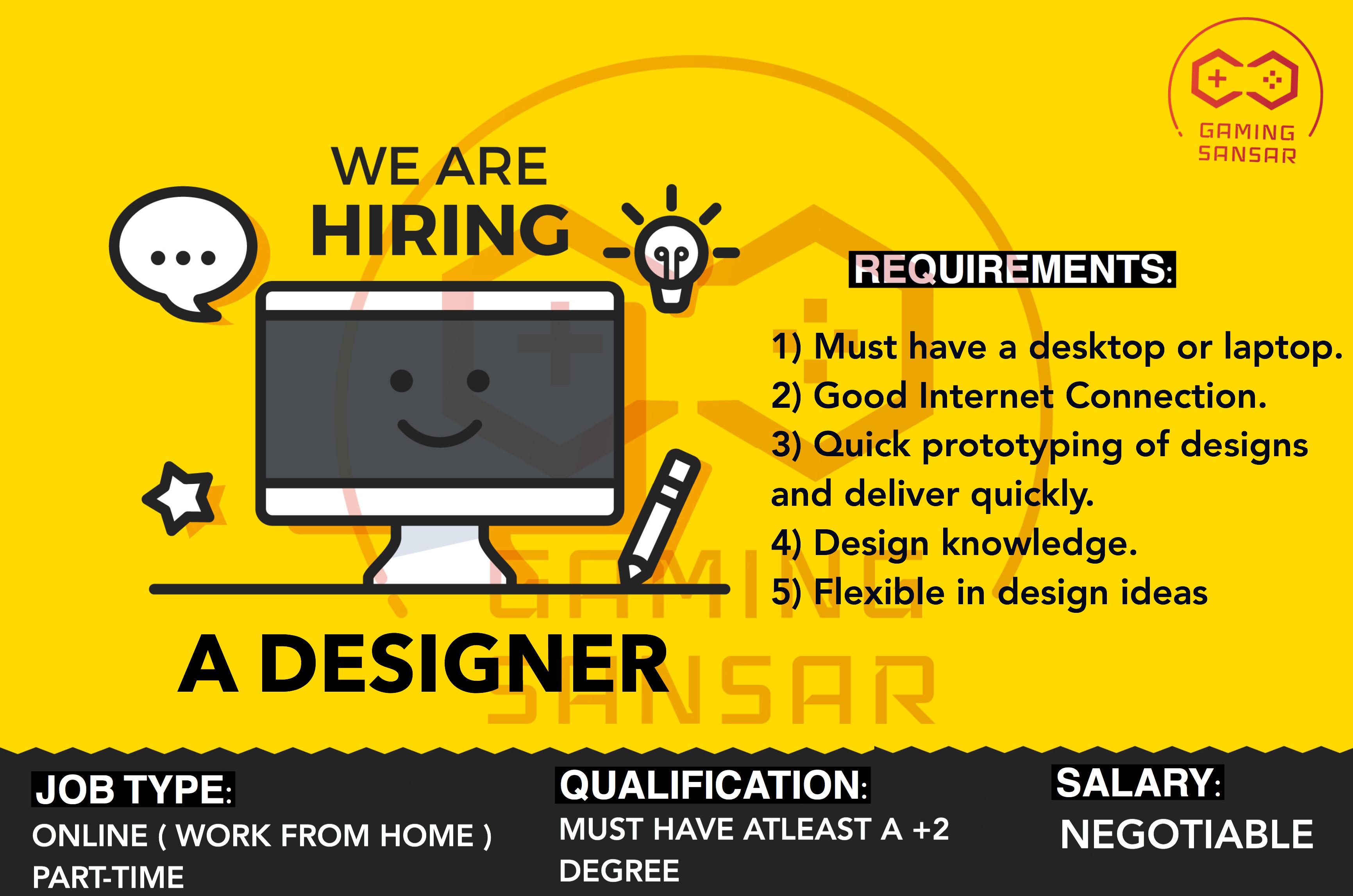 We are hiring a Designer