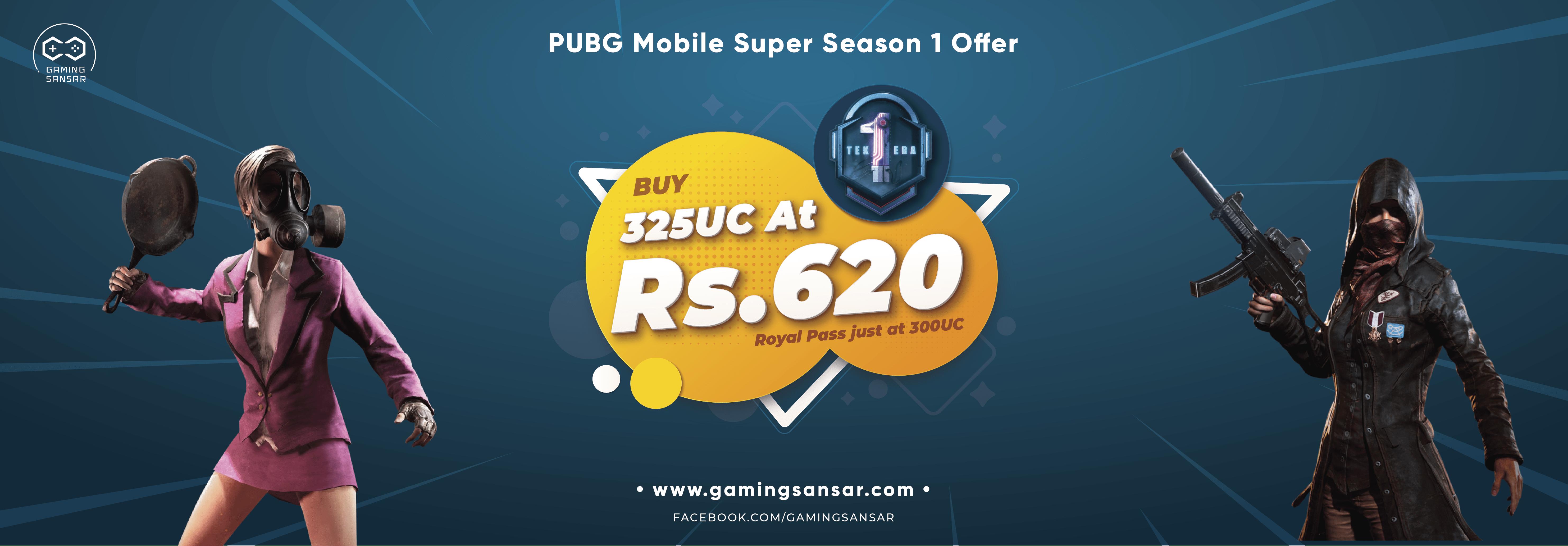Get Super Season 1 Royal Pass (325 UC) at Just Rs. 620 🥰🥰🥰